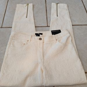 H&M ankle length off white pants